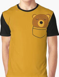 Napping pocket bear Graphic T-Shirt