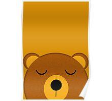 Napping pocket bear Poster