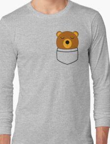 Napping pocket bear Long Sleeve T-Shirt