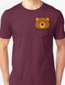 Napping pocket bear Unisex T-Shirt