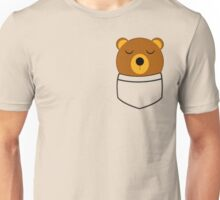 Napping pocket bear Unisex T-Shirt