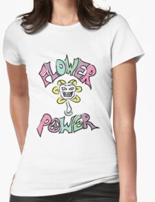 Flowe(y)r Power Womens Fitted T-Shirt