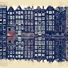 Amsterdam Watercolor And Sketch by Moonlake