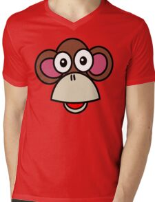Artworksy Monkey Mens V-Neck T-Shirt