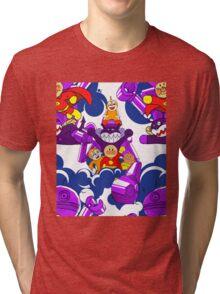 Anpanman Kid Handmade Seamless Pattern Tri-blend T-Shirt