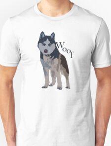 Woof - Siberian Husky T-Shirt