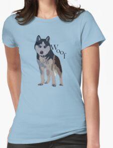 Woof - Siberian Husky Womens Fitted T-Shirt