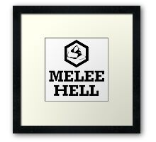Melee Hell Framed Print