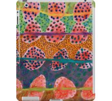 Red Round And Dotted Forms iPad Case/Skin