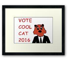 Cool Cat Fur President Merchandise Framed Print