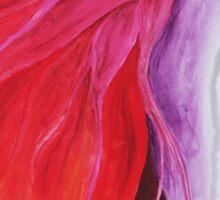Loosing Color Surreal Rainbow Woman Original Art Sticker