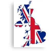 United kingdom land with union jack flag Canvas Print