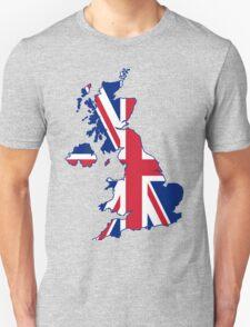 United kingdom land with union jack flag T-Shirt