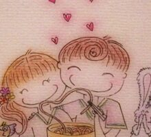 With you as my love, even instant noodle tastes amazing. Sticker