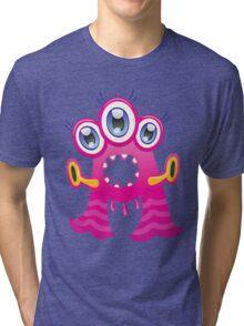 Cartoon monster letter A  Tri-blend T-Shirt