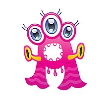 Cartoon monster letter A  Photographic Print