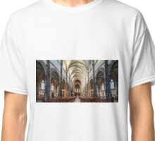 Panoramic view of St.Peter and Paul medieval church interior, Obernai, France Classic T-Shirt
