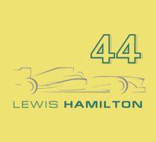 F1 - Lewis Hamilton 44 Kids Tee