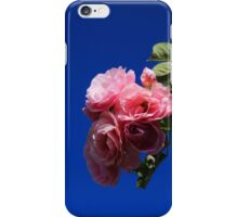 Pink Roses Against Blue Sky iPhone Case/Skin