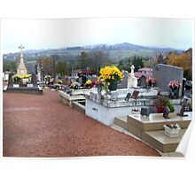 French Cemetery On All Saints Day Poster