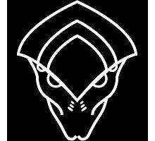 Mass Effect - Javik (White) Photographic Print