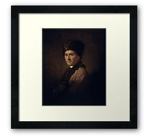 llan Ramsay - Jean-Jacques Rousseau  Framed Print