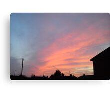 Red sky - edge of the sunlight Canvas Print