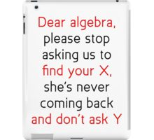 Dear Algebra iPad Case/Skin