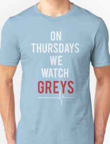 On Thursdays We Watch Greys - Best seller T-shirt T-Shirt