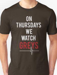 On Thursdays We Watch Greys - Best seller T-shirt T-Shirt