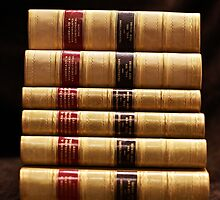 Stack of antique books by JacquiHall