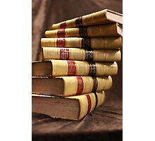 Antique books with a twist Photographic Print