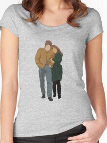 Minimalist Freewheelin' Bob Dylan Women's Fitted Scoop T-Shirt