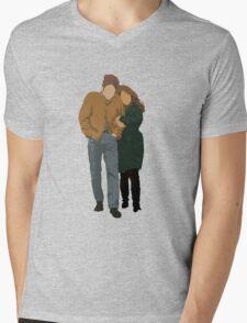 Minimalist Freewheelin' Bob Dylan Mens V-Neck T-Shirt