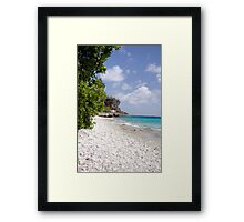 Thousand Steps Beach, Bonaire Framed Print