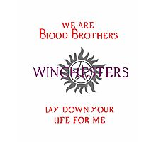 Winchesters - Blood Brothers Photographic Print