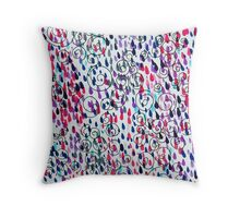 Random Paint - Red & Purple Throw Pillow