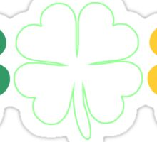 Lucky Irish Shamrock Clover Ireland Flag Sticker