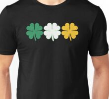 Lucky Irish Shamrock Clover Ireland Flag Unisex T-Shirt