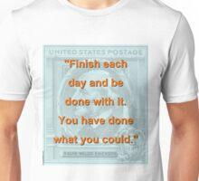 Finish Each Day - RW Emerson Unisex T-Shirt