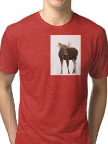Moose in winter Tri-blend T-Shirt