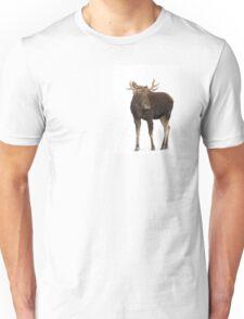 Moose in winter Unisex T-Shirt