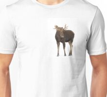 Moose in winter Unisex T-Shirt