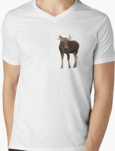 Moose in winter Mens V-Neck T-Shirt