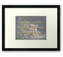 For All Eternity - W Blake Framed Print
