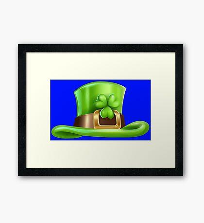 Saint Patrick's day hat  Framed Print