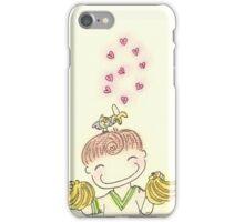 Love makes me go bananas iPhone Case/Skin