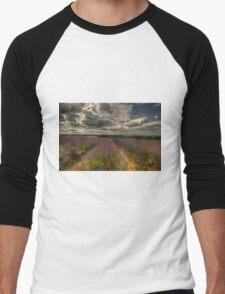 Lavender Field  Men's Baseball ¾ T-Shirt