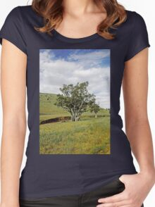 Country Fields, South Australia Women's Fitted Scoop T-Shirt