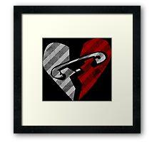 5SOS - Heart Black Framed Print
